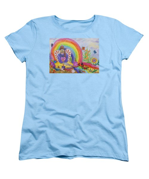 Butterfly Woman Healer I Am Women's T-Shirt (Standard Cut) by Ellen Levinson