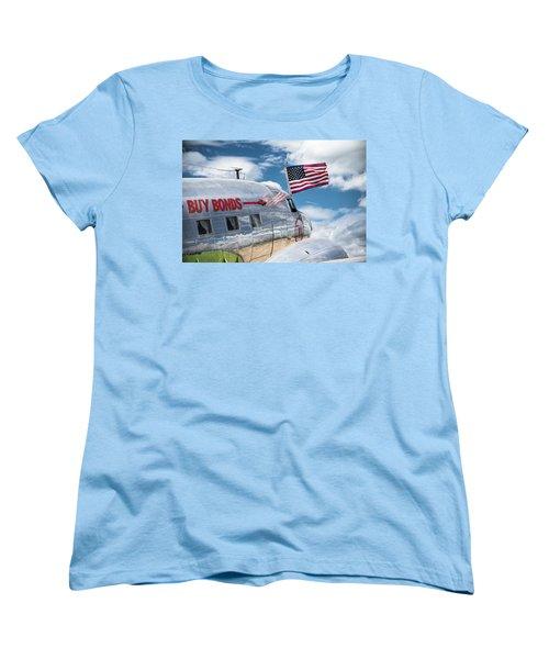 Women's T-Shirt (Standard Cut) featuring the photograph Buy Bonds by Steven Bateson