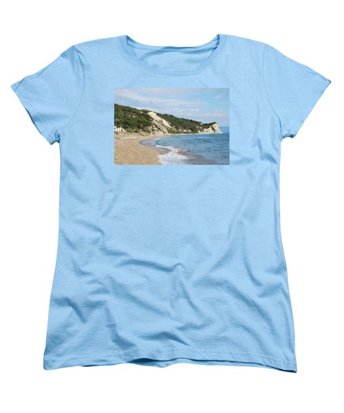 Women's T-Shirt (Standard Cut) featuring the photograph By The Beach by George Katechis