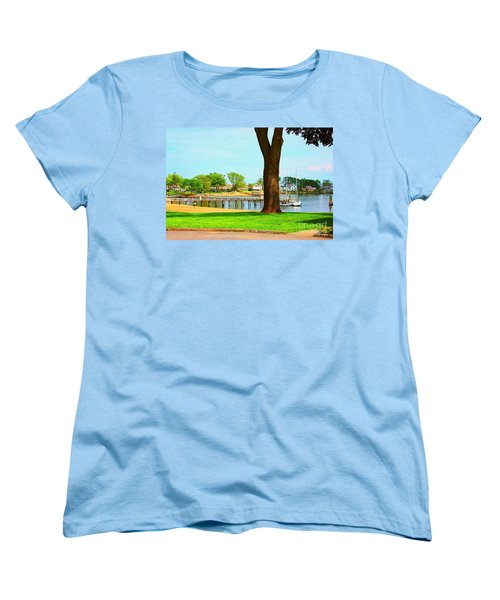Women's T-Shirt (Standard Cut) featuring the photograph By The Sea by Judy Palkimas