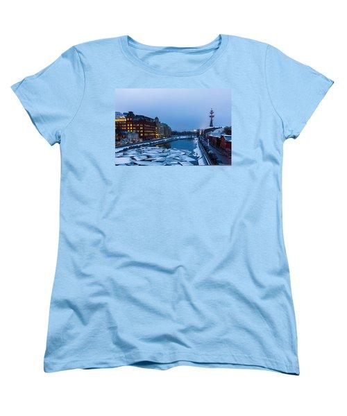 Bypass Canal Of Moscow River - Featured 3 Women's T-Shirt (Standard Cut) by Alexander Senin