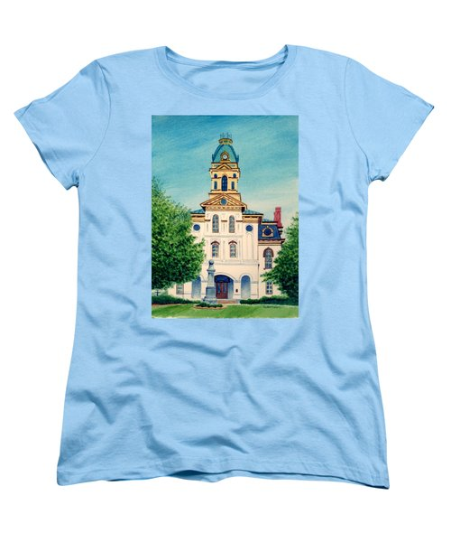 Cabarrus County Courthouse Women's T-Shirt (Standard Cut) by Stacy C Bottoms