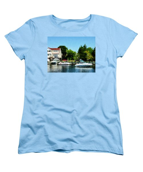 Women's T-Shirt (Standard Cut) featuring the photograph Cabin Cruisers by Susan Savad