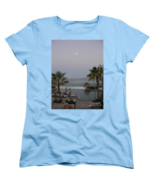 Women's T-Shirt (Standard Cut) featuring the photograph Cabo Moonlight by Susan Garren