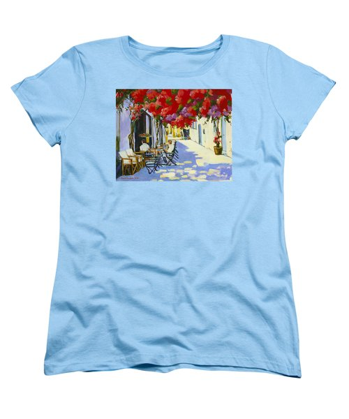 Cafe Women's T-Shirt (Standard Cut) by Alexandra Maria Ethlyn Cheshire