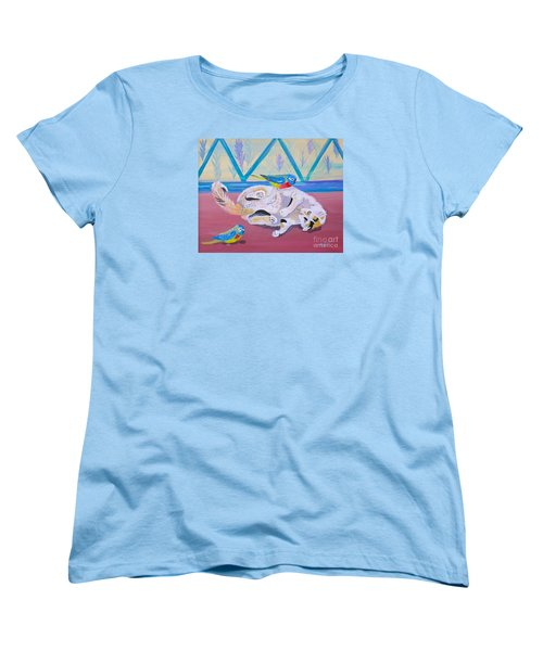 Women's T-Shirt (Standard Cut) featuring the painting Calico And Friends by Phyllis Kaltenbach