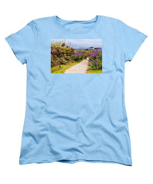 California Coastline Path Women's T-Shirt (Standard Cut) by Melinda Ledsome