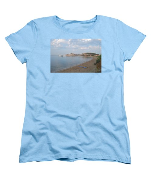 Women's T-Shirt (Standard Cut) featuring the photograph Calm Sea by George Katechis