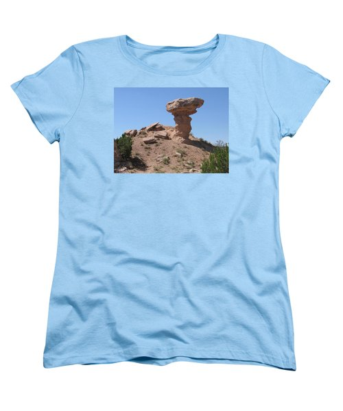 Women's T-Shirt (Standard Cut) featuring the photograph Camel Rock - Natural Rock Formation by Dora Sofia Caputo Photographic Art and Design