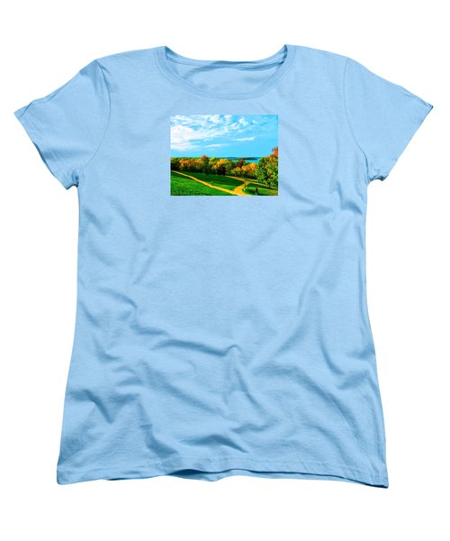 Campus Fall Colors Women's T-Shirt (Standard Cut) by Zafer Gurel