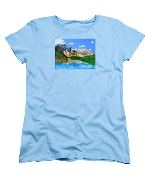 Canadian Mountains And Lake  Women's T-Shirt (Standard Cut) by Magdalena Frohnsdorff