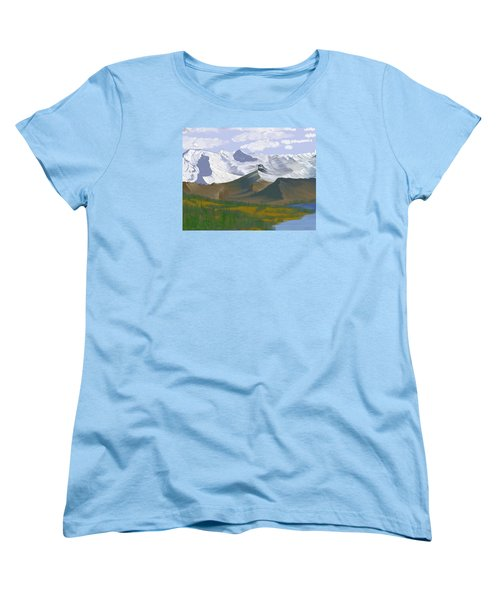 Canadian Rockies Women's T-Shirt (Standard Cut) by Terry Frederick