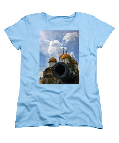 Cannon And Cathedral  - Russia Women's T-Shirt (Standard Cut) by Madeline Ellis