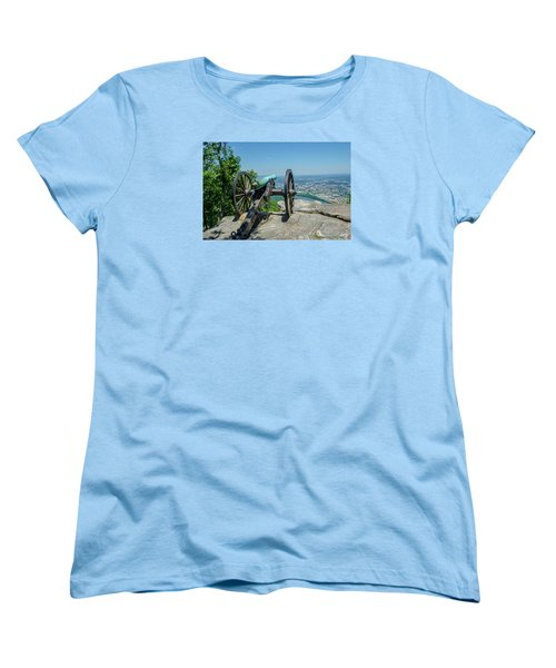 Women's T-Shirt (Standard Cut) featuring the photograph Cannon At Point Park by Susan  McMenamin