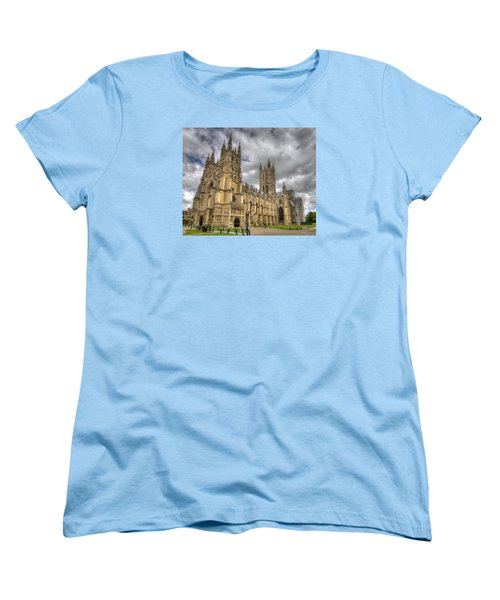 Canterbury Cathedral Women's T-Shirt (Standard Cut) by Tim Stanley