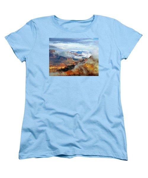 Women's T-Shirt (Standard Cut) featuring the photograph Canyon Clouds by Alan Socolik
