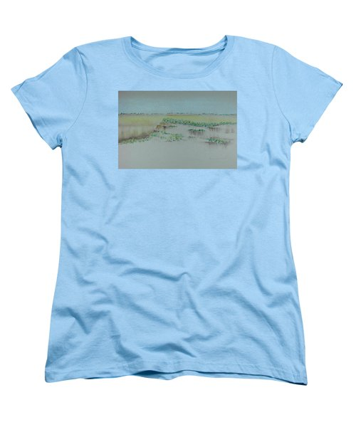Women's T-Shirt (Standard Cut) featuring the pastel Canyon View by Michele Myers