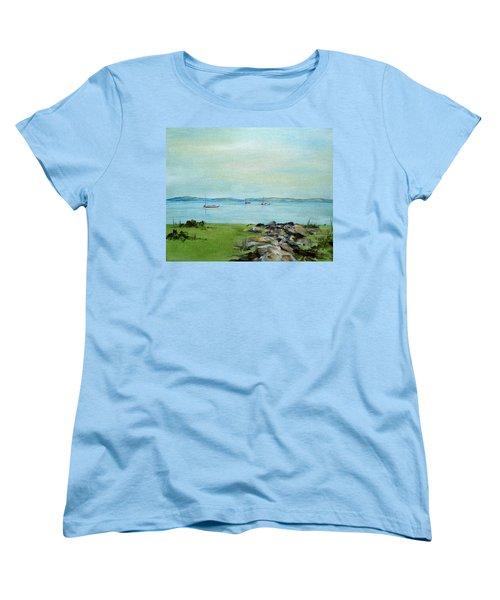 Cape Cod  Boats Women's T-Shirt (Standard Cut) by Judith Rhue