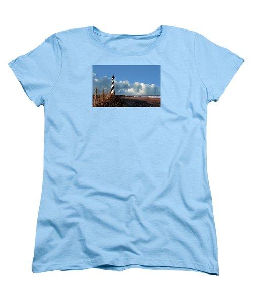 Cape Hatteras Lighthouse Nc Women's T-Shirt (Standard Cut) by Skip Willits