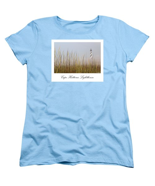 Cape Hatteras Lighthouse In The Fog Women's T-Shirt (Standard Cut) by Tony Cooper