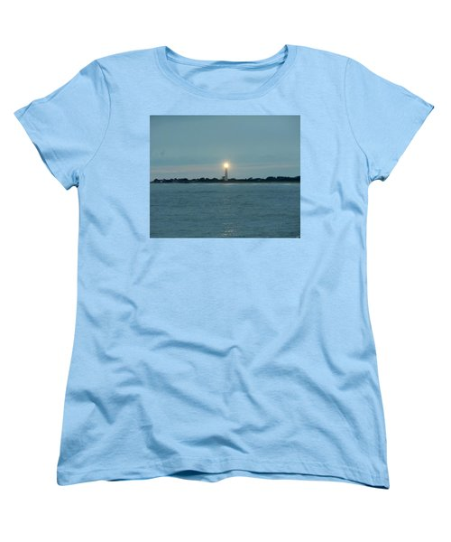Women's T-Shirt (Standard Cut) featuring the photograph Cape May Beacon by Ed Sweeney