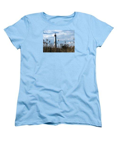 Cape May Light Women's T-Shirt (Standard Cut) by Skip Willits