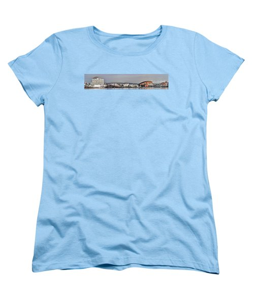 Cardiff Bay Panorama 2 Women's T-Shirt (Standard Cut) by Steve Purnell