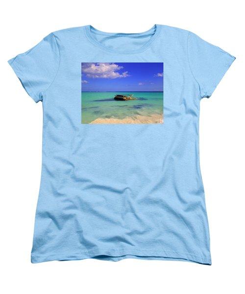 Women's T-Shirt (Standard Cut) featuring the photograph Caribbean Colors  by Eti Reid
