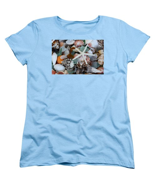 Caribbean Shells Women's T-Shirt (Standard Cut) by The Art of Alice Terrill