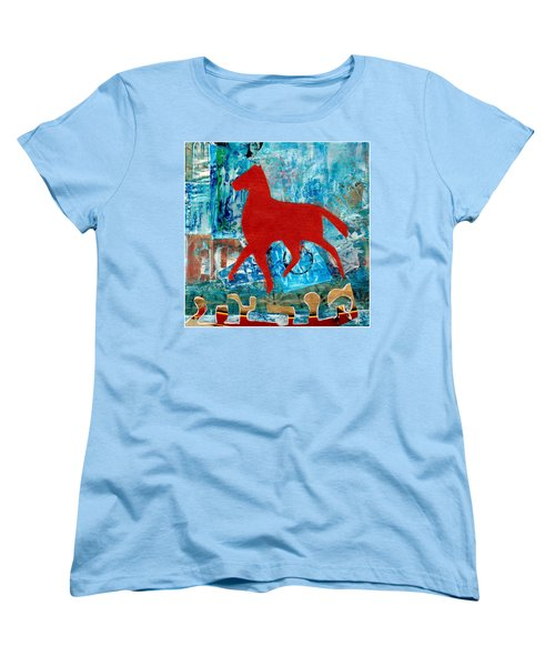 Carousel Women's T-Shirt (Standard Cut) by Patricia Cleasby