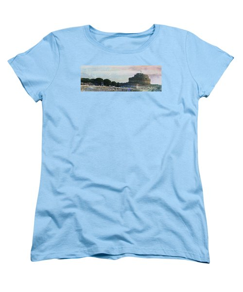 Women's T-Shirt (Standard Cut) featuring the painting Castel Sant'angelo     by Brian Reaves