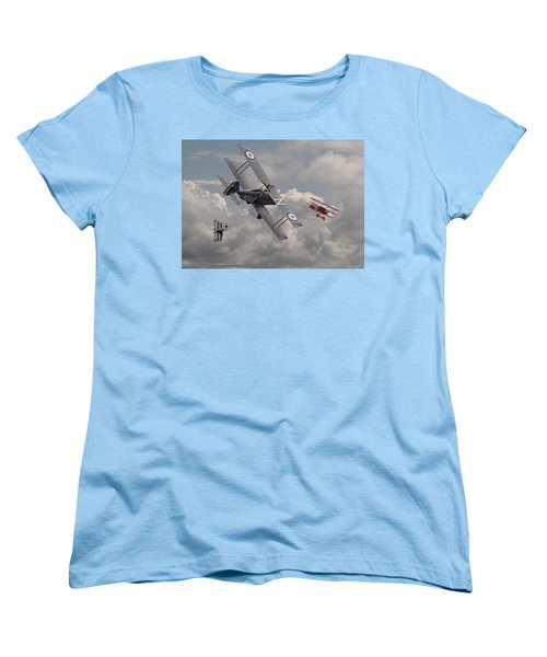 Cat Among The Pigeons Women's T-Shirt (Standard Cut) by Pat Speirs