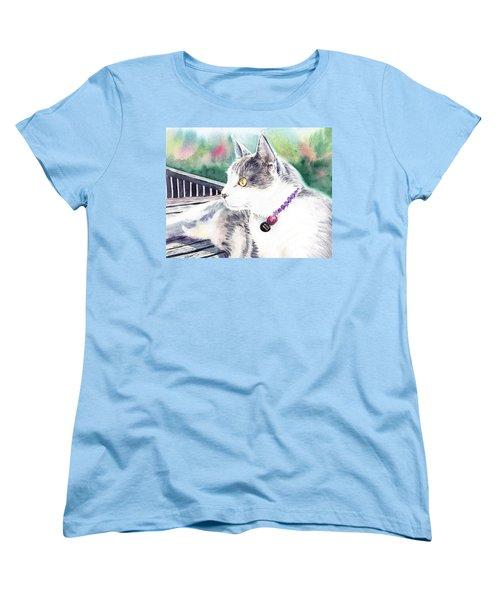 Cat Women's T-Shirt (Standard Cut) by Irina Sztukowski