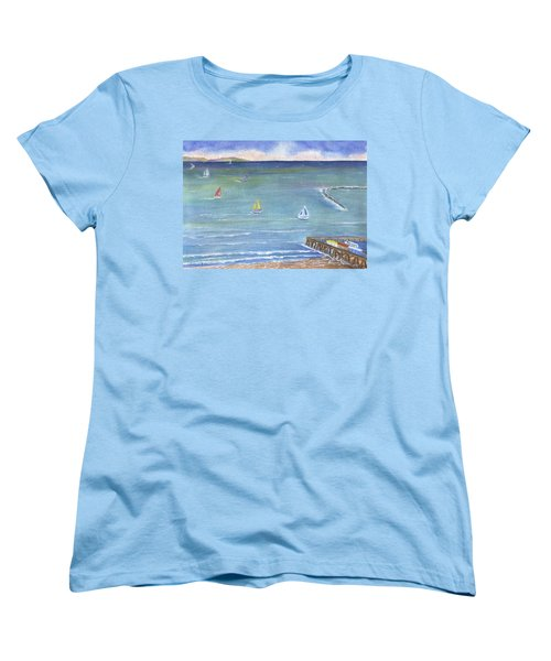 Catalina To Redondo Women's T-Shirt (Standard Cut) by Jamie Frier