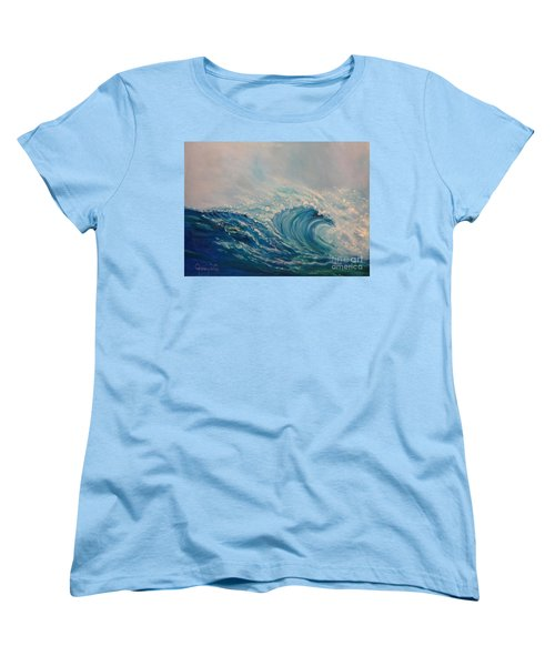 Women's T-Shirt (Standard Cut) featuring the painting Wave 111 by Jenny Lee