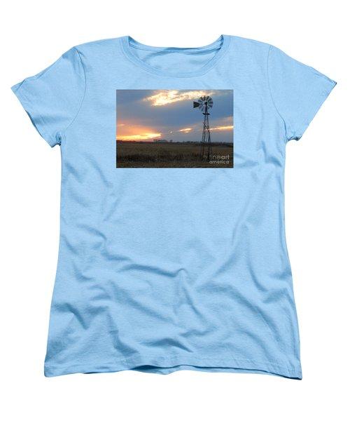 Catching The Wind In South Dakota Women's T-Shirt (Standard Cut) by Mary Carol Story