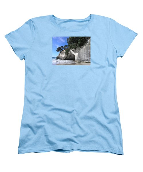 Women's T-Shirt (Standard Cut) featuring the photograph Cathedral Cove by Christian Zesewitz