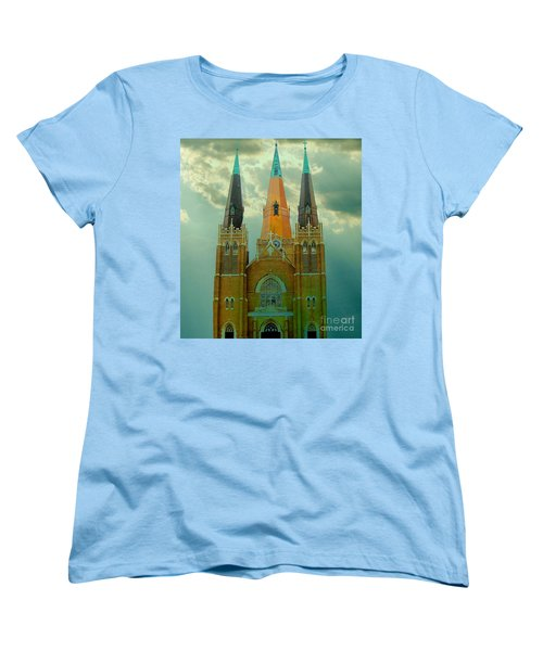 Cathedral Of The Holy Family  Women's T-Shirt (Standard Cut) by Janette Boyd