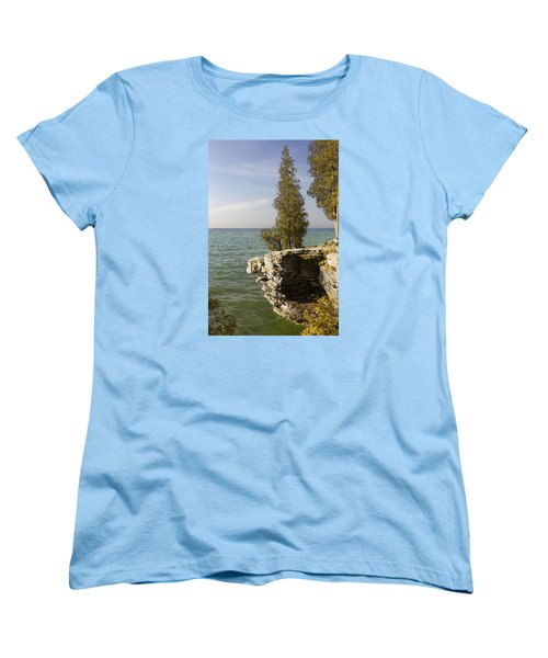Cave Point - Signed Women's T-Shirt (Standard Cut) by Barbara Smith