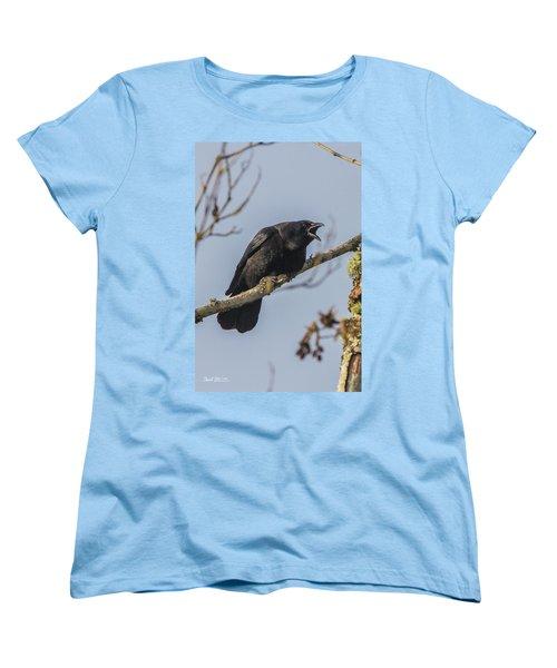 Caw Women's T-Shirt (Standard Cut) by Charlie Duncan