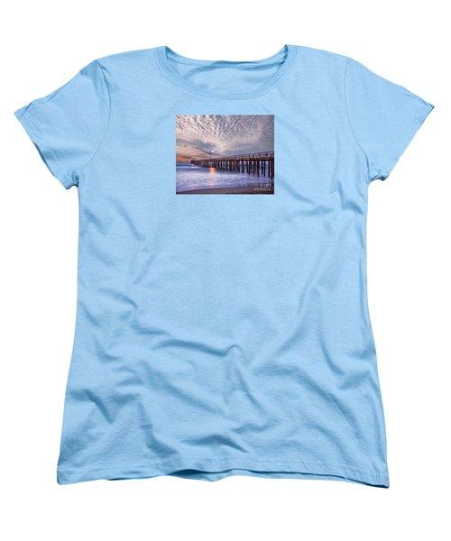 Cayucos Pier Women's T-Shirt (Standard Cut) by Alice Cahill