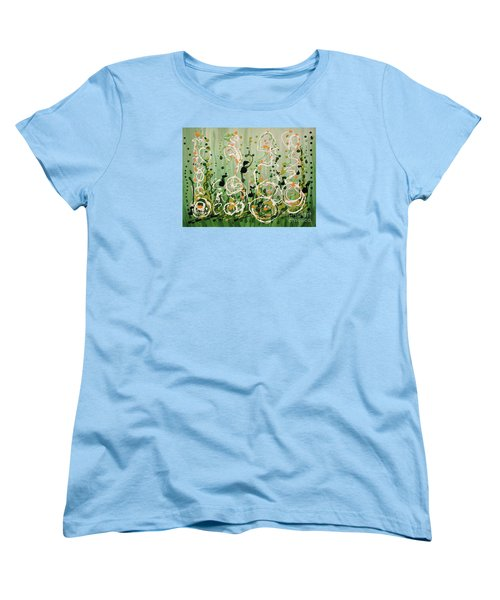 Women's T-Shirt (Standard Cut) featuring the painting Champagne Symphony by Holly Carmichael