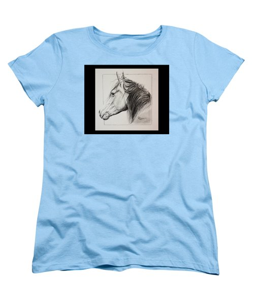 Women's T-Shirt (Standard Cut) featuring the drawing Champion by Rachel Hames