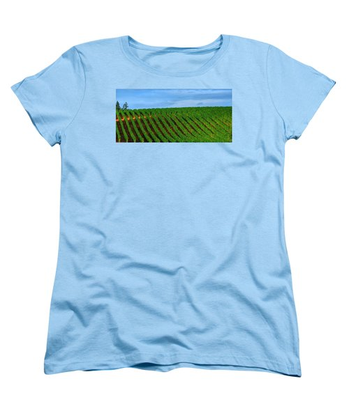 Chardonnay Sky 17990 Women's T-Shirt (Standard Cut) by Jerry Sodorff