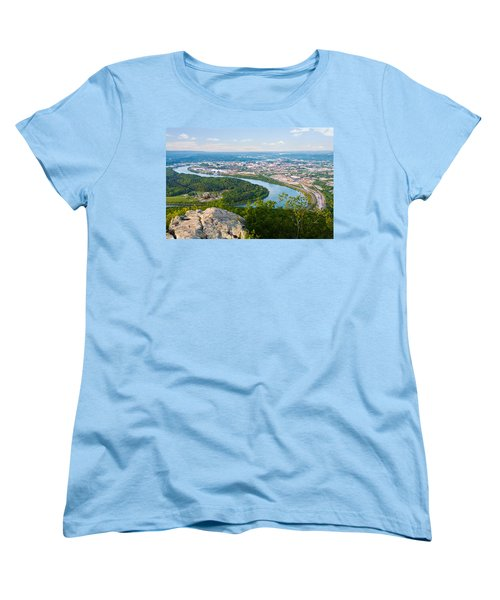 Chattanooga Spring Skyline Women's T-Shirt (Standard Cut) by Melinda Fawver
