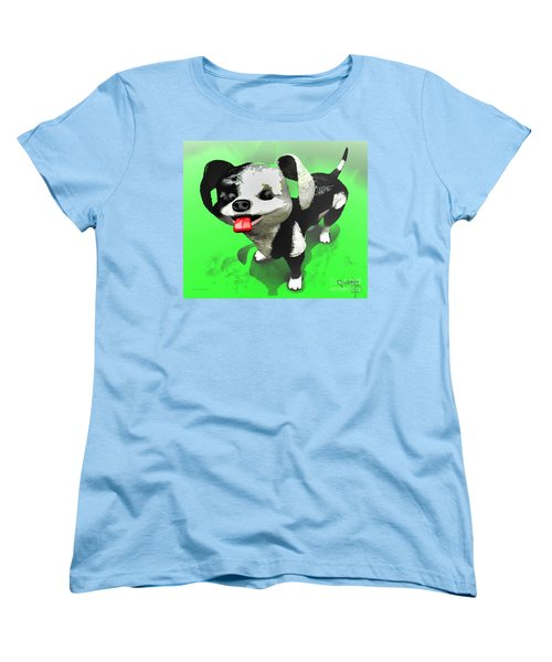 Women's T-Shirt (Standard Cut) featuring the painting Checkmate by Dave Luebbert