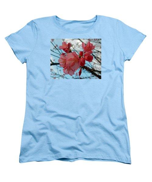 Cherry Blossoms Women's T-Shirt (Standard Cut) by Pamela Walton