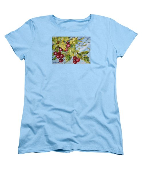 Cherry Breeze Women's T-Shirt (Standard Cut) by Kathleen Pio