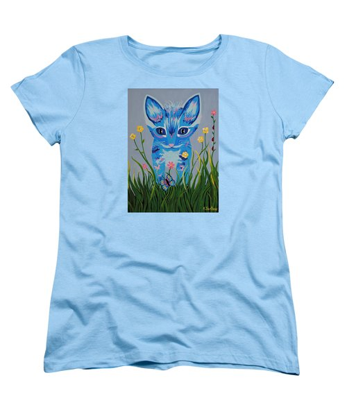 Women's T-Shirt (Standard Cut) featuring the painting Chibi by Kathleen Sartoris
