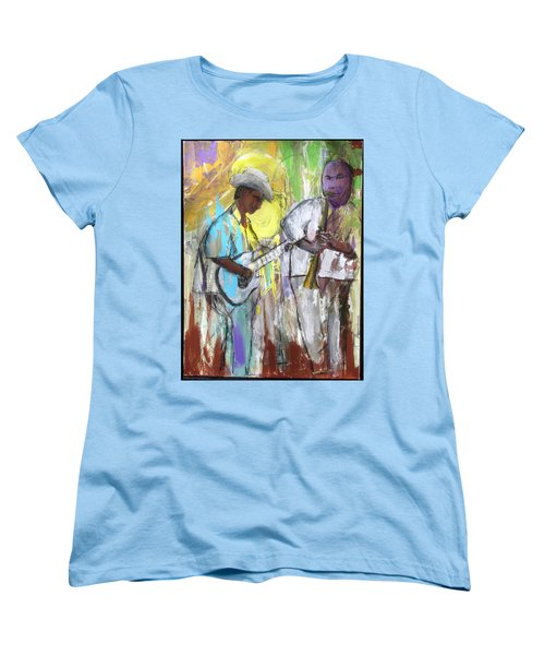 Women's T-Shirt (Standard Cut) featuring the painting Chicago Jam by Keith Thue